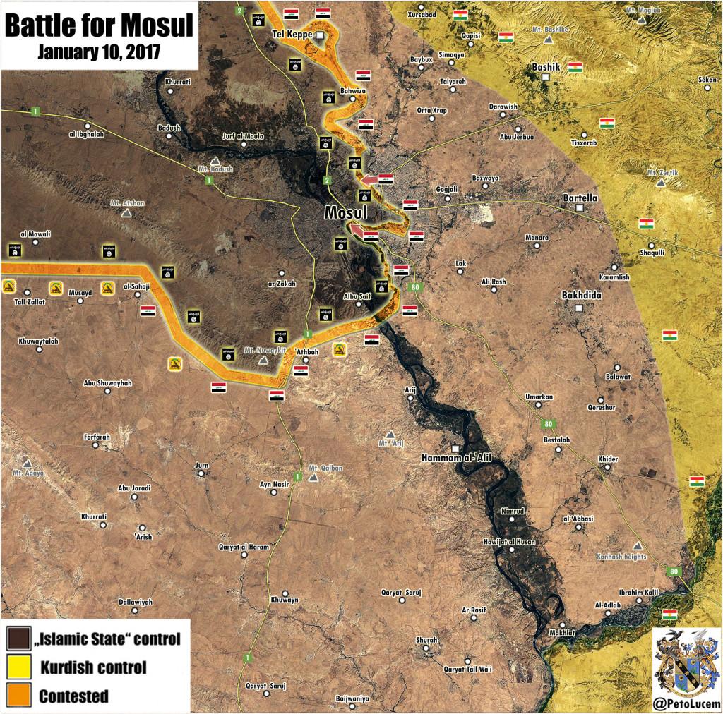Iraqi Forces Secure Al-Sukkar Distrcit In Eastern Mosul