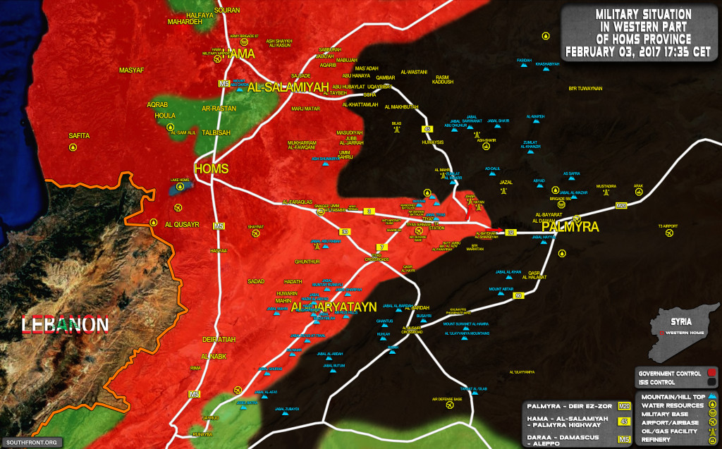ISIS Further Retreating Along Homs-Palmyra Highway Under Syrian Army's Pressure