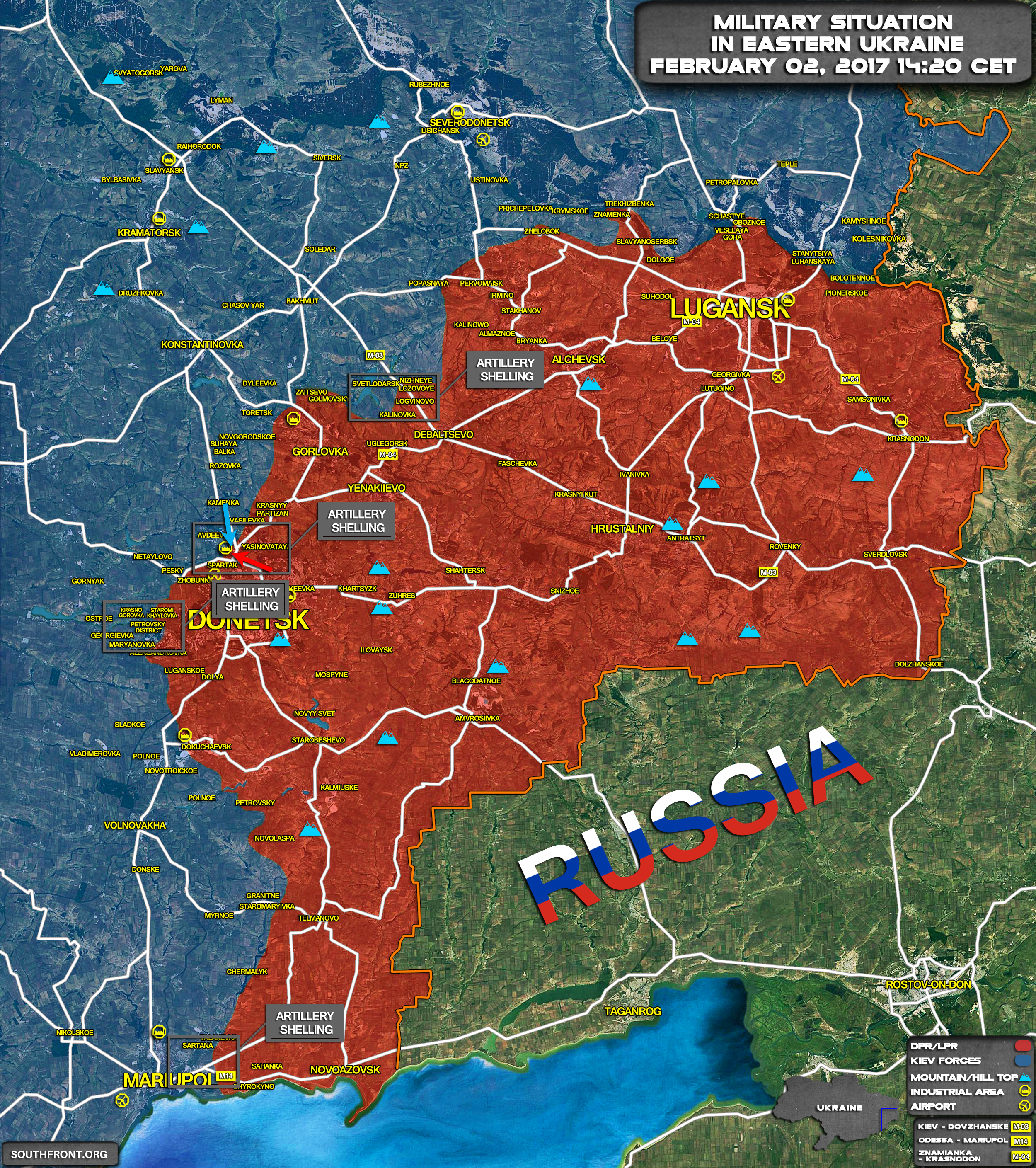 Military Situation Remains Tense In Eastern Ukraine Map Videos – Eastern Map