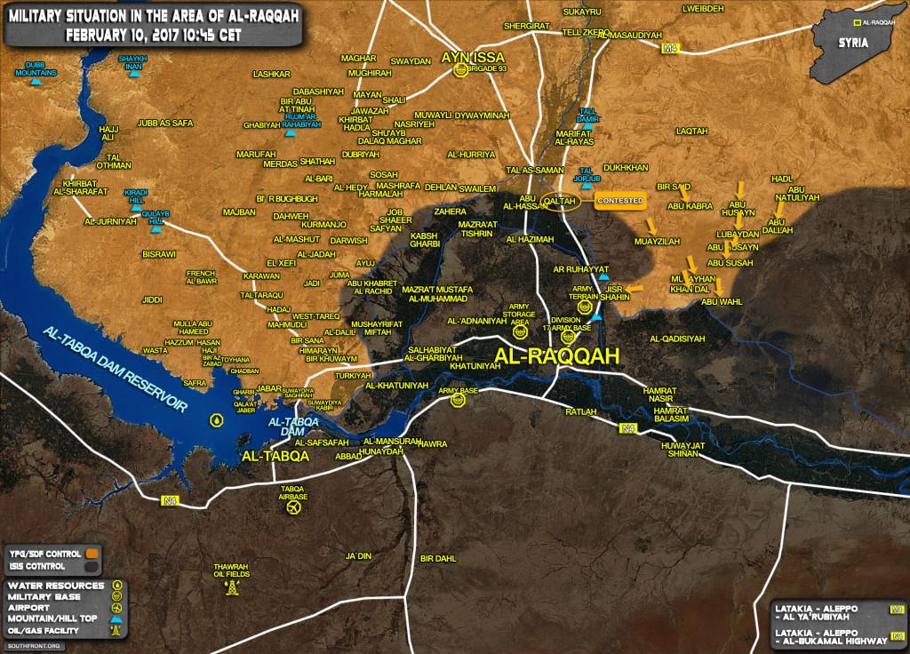 US-backed SDF Captures Jisr Shanin, Deploys In 10km From Raqqah