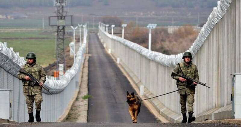 Turkey Built Over Half of Concrete Wall on Border with Syria