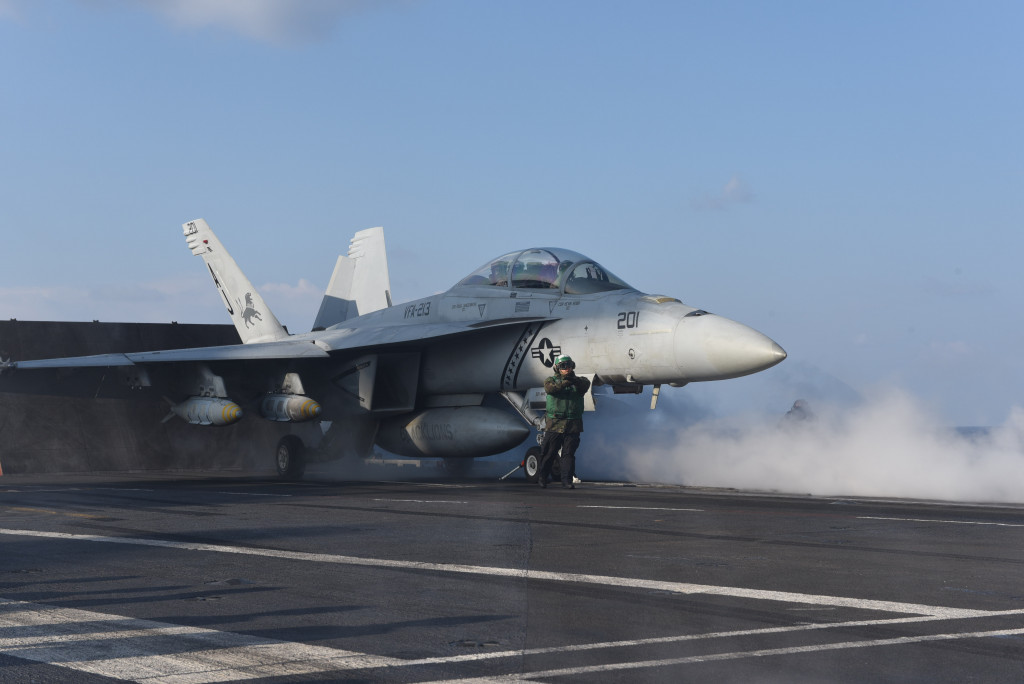 US Carrier Group Launches Strikes Against ISIS In Syria, Iraq From Mediterranean