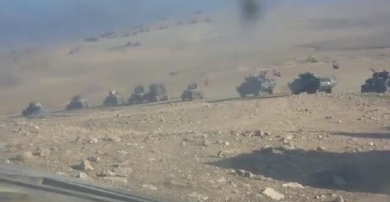 Iraqi Federal Police units south of Mosul. Image source: @iraqi_day/Twitter