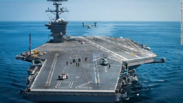 "US Aircraft Carrier Group Begins ""Routine"" Patrols In Disputed South China Sea"