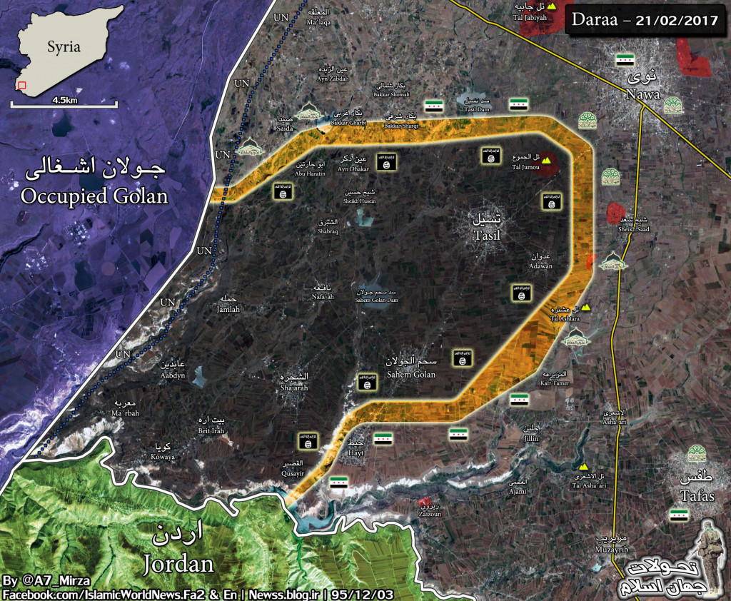 Military Situation In Southwestern Part Of Daraa Province (Map Update)