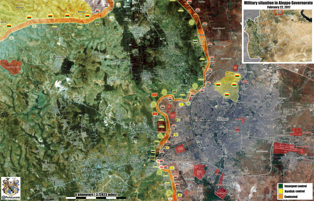 MIlitary Situation In Western Countryside Of Aleppo City After Recent Advances By Government Forces (Map Update)