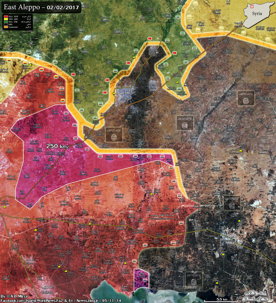Syrian Army Liberated ~250 km2 From ISIS Terrorists in Eastern Countryside Of Aleppo City (Map)