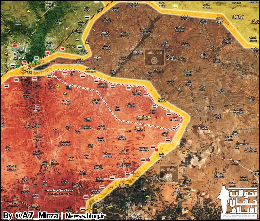 Govt Forces Liberate 7 Villages From ISIS In Aleppo Province (Map)