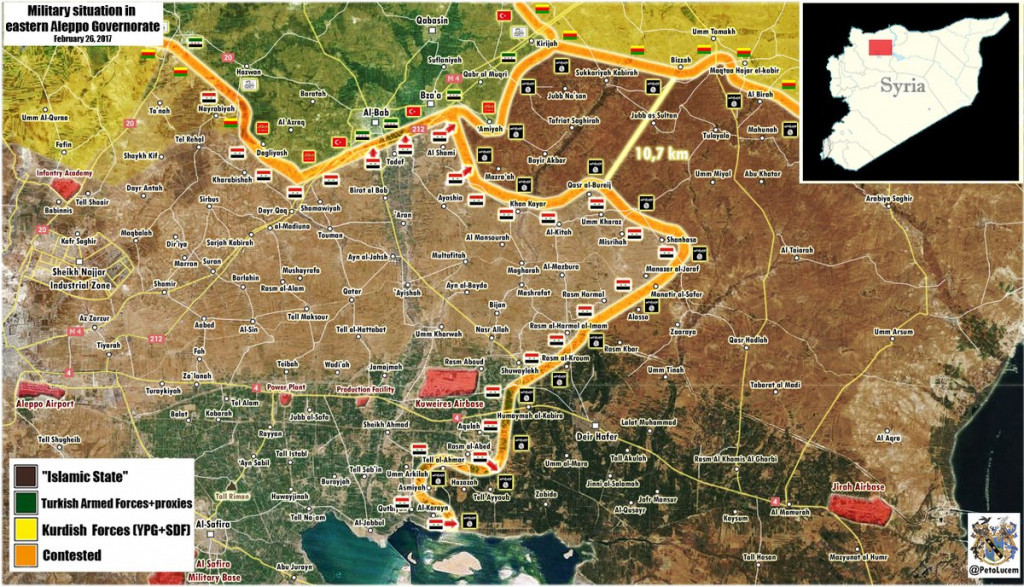 Military Situation In Northern Part Of Aleppo Province On February 26, 2017