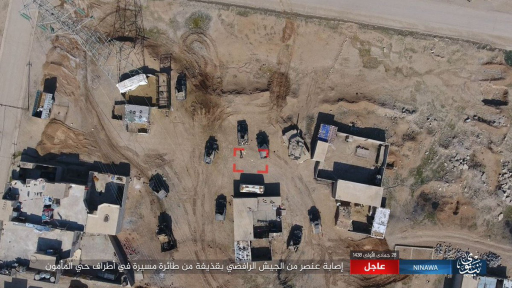 ISIS Drone Destroyed Iraqi Forces Humvee In Mosul (Video)