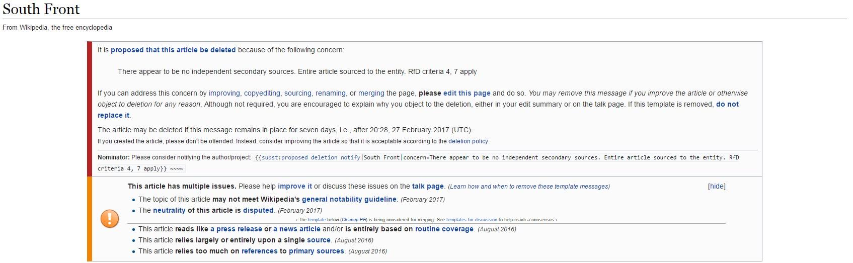 wikipedia article template