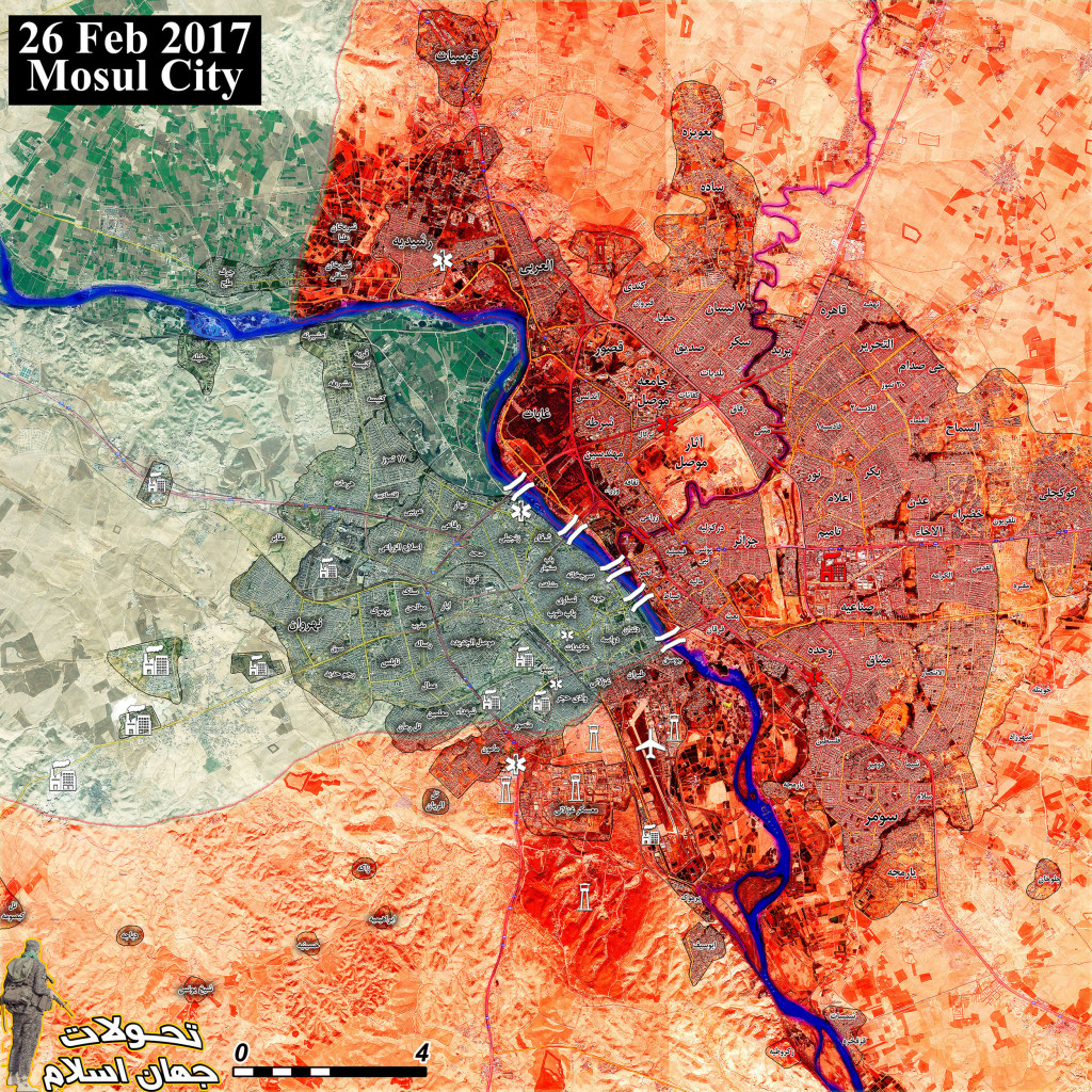 Military Situation In Mosul City After Fresh Advances By Iraqi Forces (Map Update)