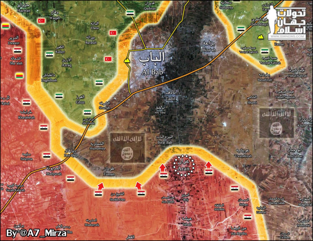 Syrian Army's Tiger Forces Liberate Strategic Town South Of Al-Bab