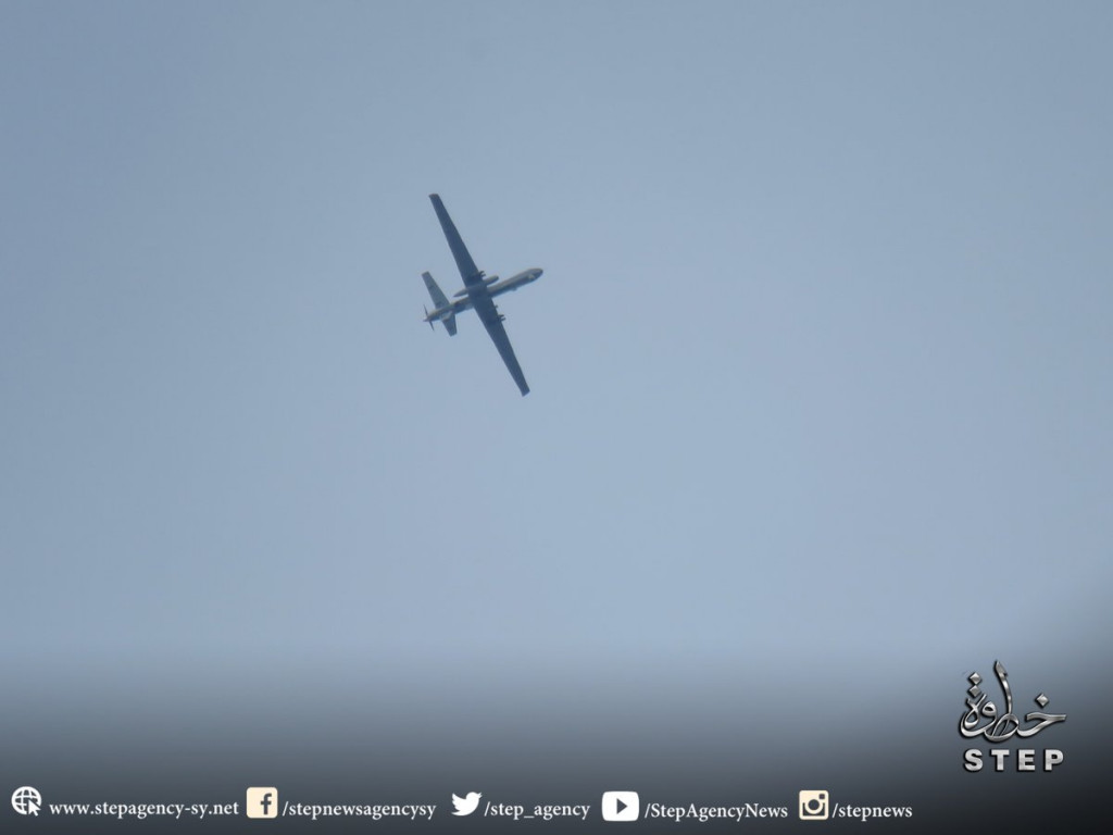 MQ-9 Reaper in Idlib. Photo: Step News Agency