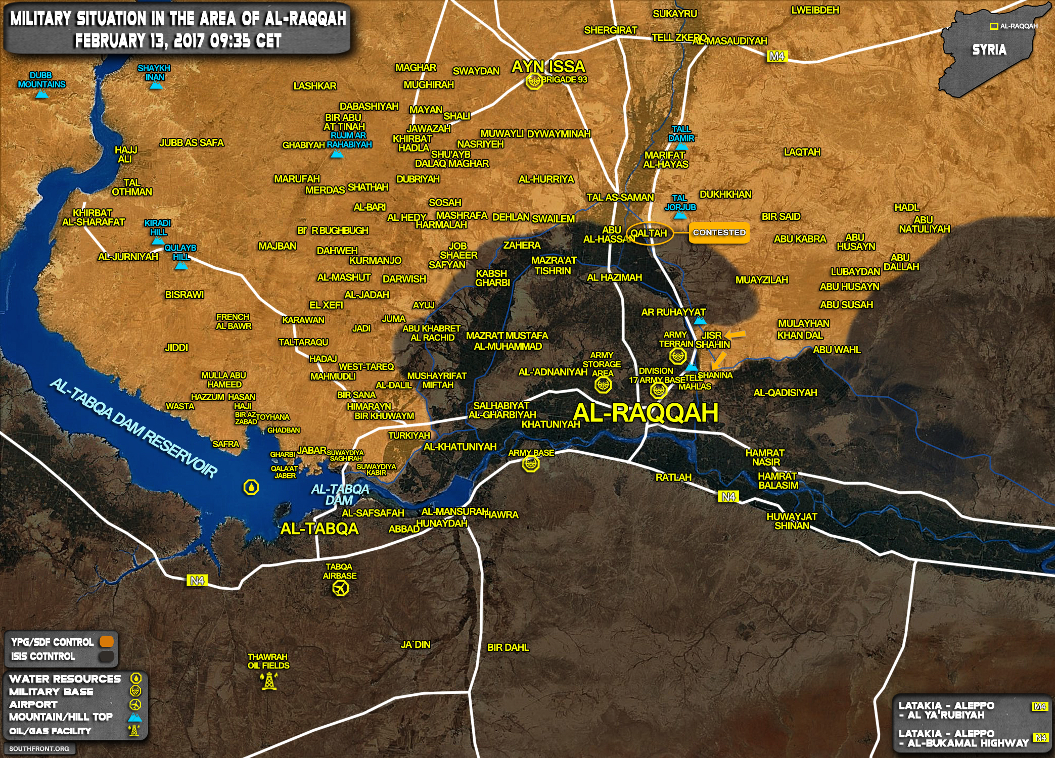 Progress Of Us Backed Advance On Isis Stronghold Of Raqqah Syria Map Update