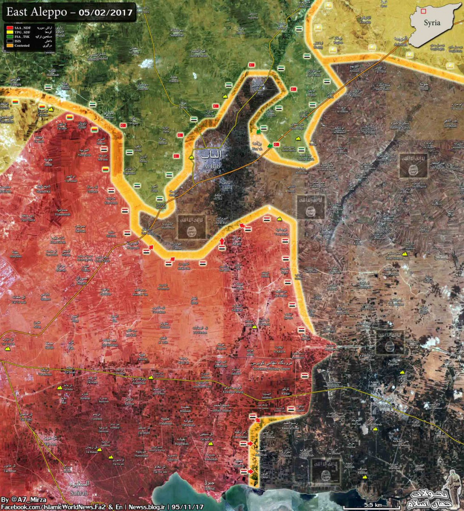 Government Forces Set Fire Control Over Only ISIS Supply Line To Al-Bab
