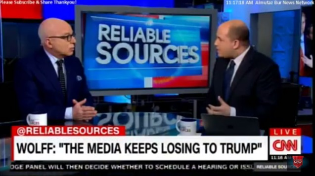 """Media Turning On Itself: USAToday's Wolff Slams CNN's Stelter As """"Ridiculous, Self-Righteous Figure"""""""