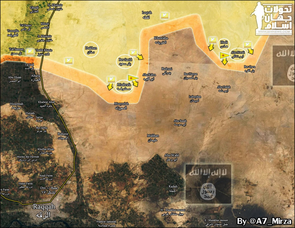 MAP: Progress Of US-Backed SDF Against ISIS In Northern Countryside Of Al-Raqqah