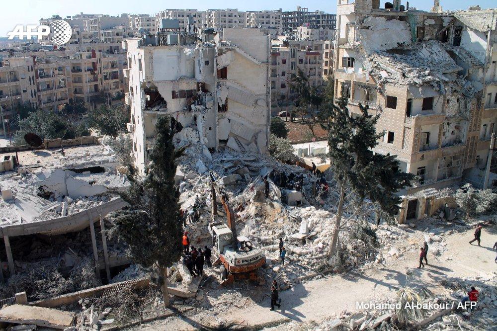 Airstrikes On Al-Qaeda-Linked Targets In City Of Idlib Kill 26 Including Civilians - Reports