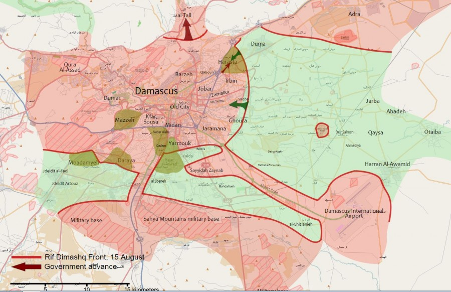 Military Map Comparison: Damascus Area In 2012 And In 2017