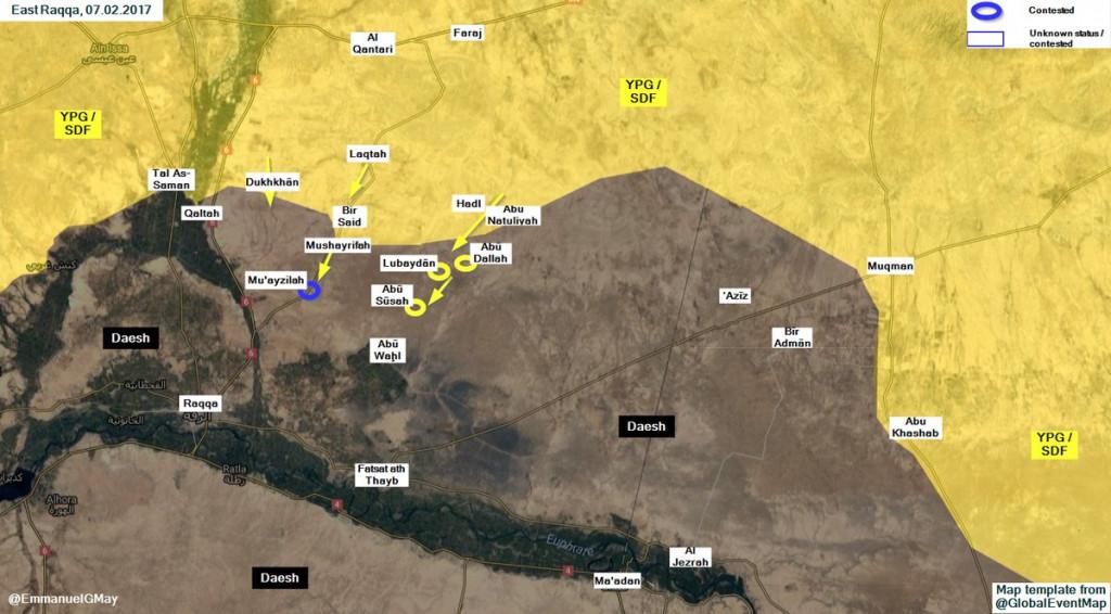 US-Backed Kurdish Units Take Control Of 3 More Villages Near Al-Raqqah