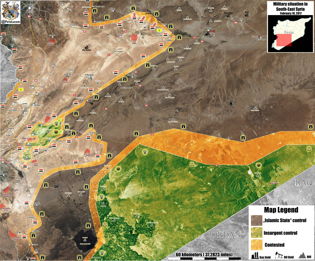 A General Look At The Military Situation In Southeastern Syria (Map Update)
