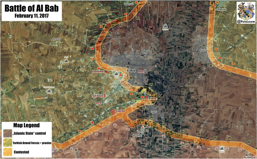Turkish Forces Seize Southern Entrance To Al-Bab, Syrian Army Holds Ground At Tadif (Map Update)