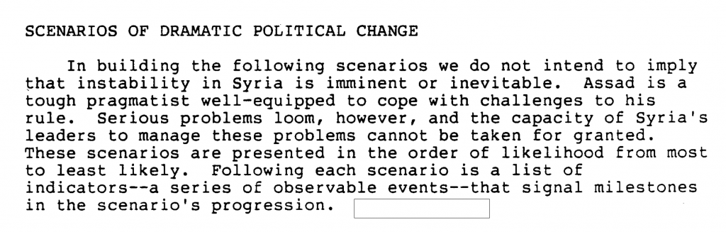 The CIA's Blueprint for Syrian Regime Collapse: New Declassified CIA Memo