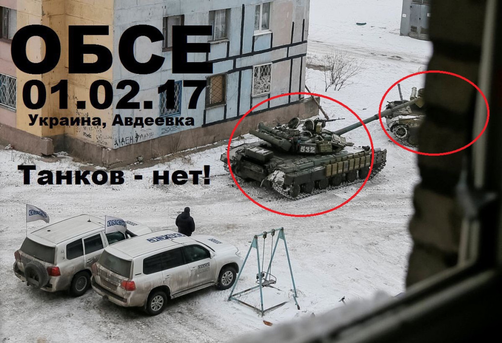 OSCE Monitoring Mission Ignores Battle Tanks Of Pro-Kiev Forces Deployed For Fighting In Eastern Ukraine - Photos