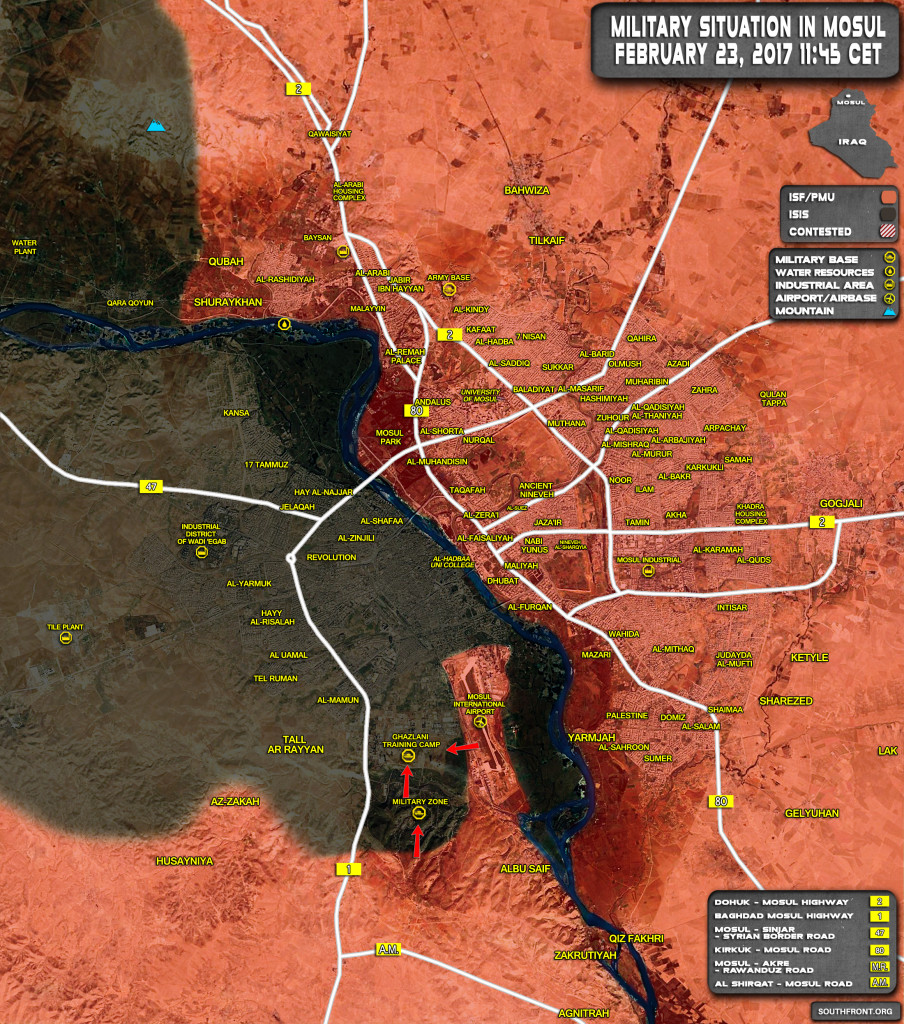 Iraqi Forces Liberated Mosul Airport From ISIS (Map Update)