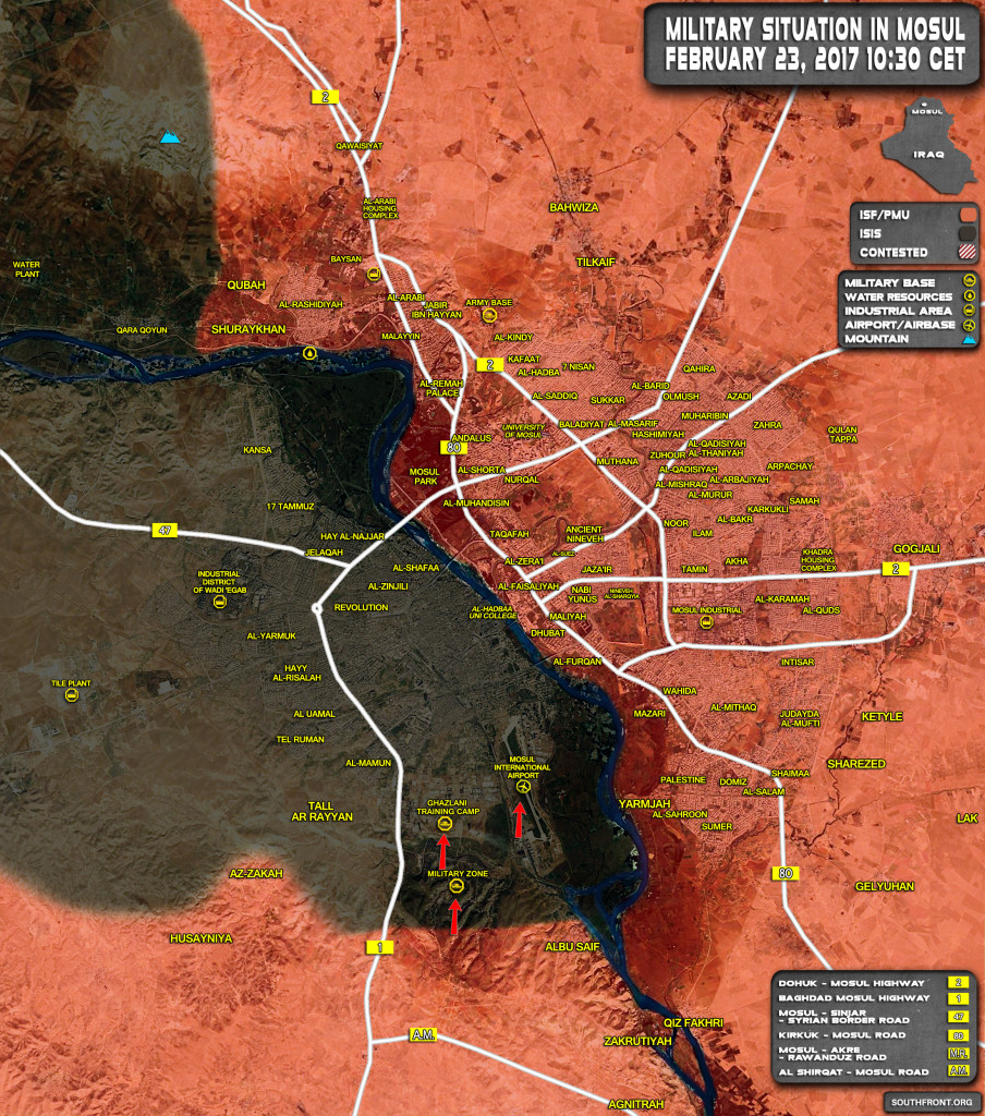 Iraqi Troops Storming Ghazlani Military Base And Mosul Airport (Map, Photos, Video)