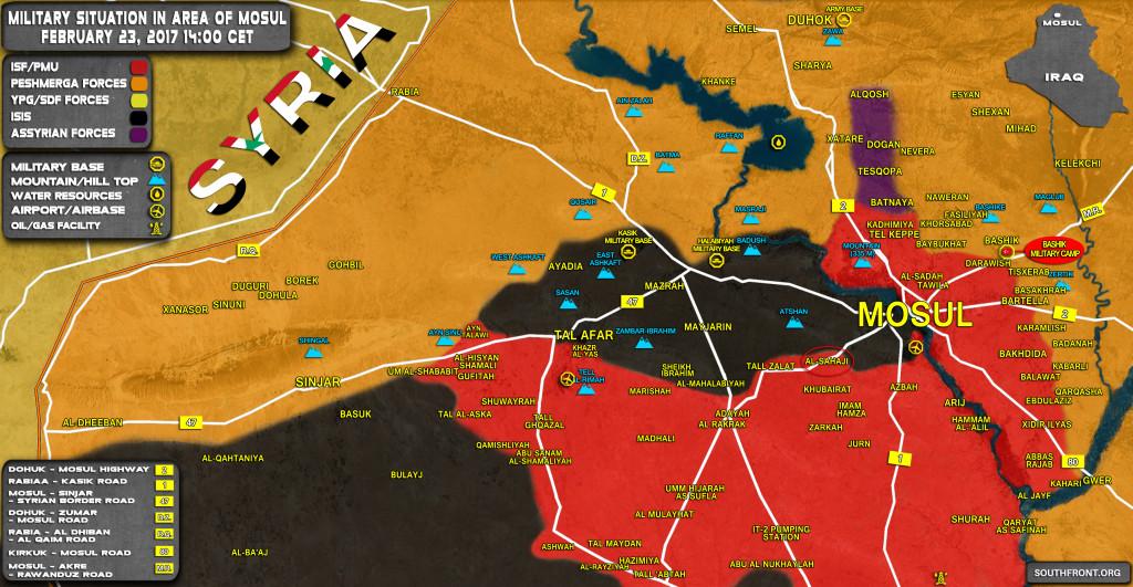 Iraqi Popular Mobilization Units Advance West Of Mosul