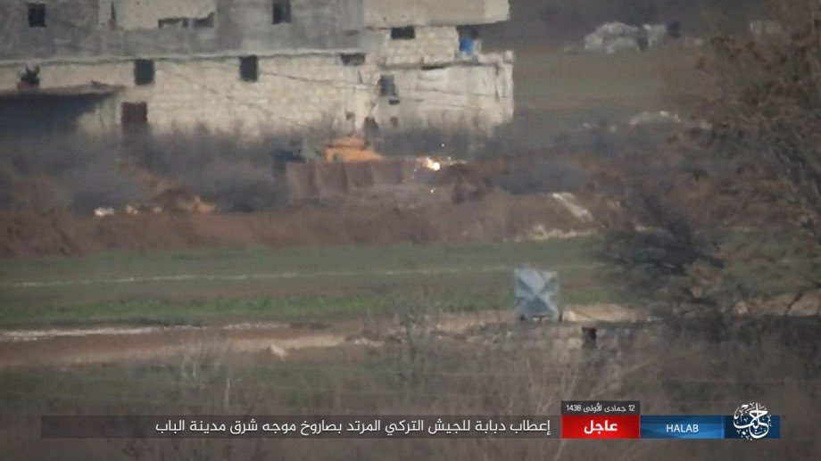 ISIS Hits Turkish M60T Battle Tank With Anti-Tank Guided Missile Near Al-Bab (Photos)