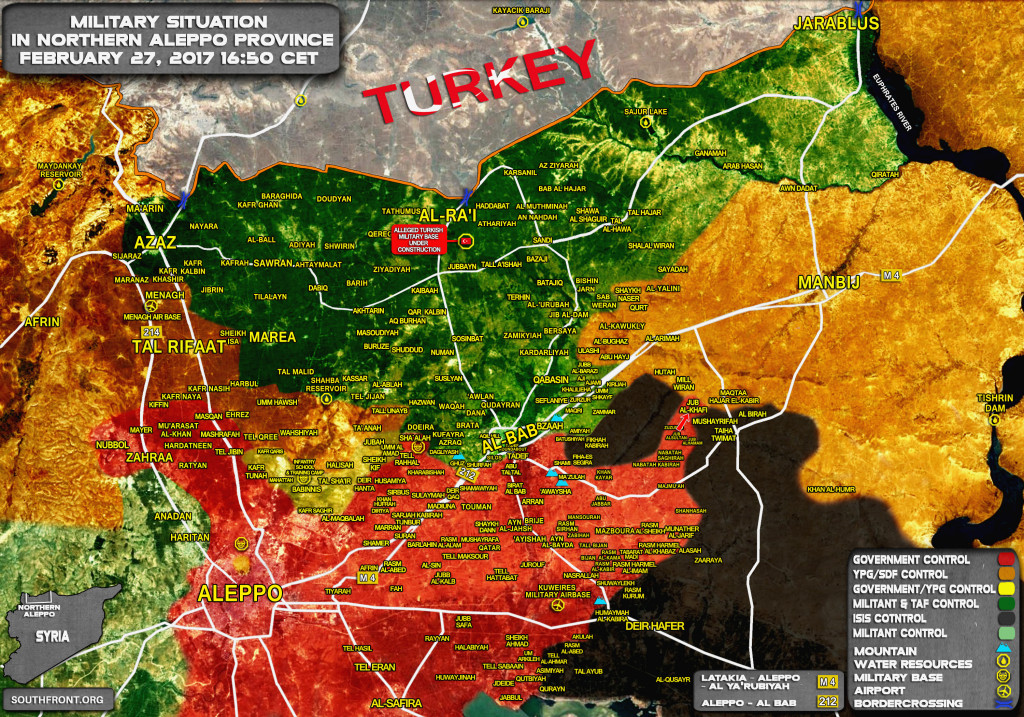 Syrian Government Forces Reach Kurdish YPG Frontline In Aleppo Province (Map Update)