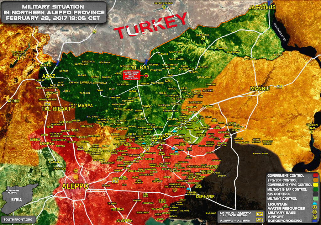 Pro-Turkish Forces Seize Village From YPG West Of Manbij. Syrian Army Liberates More Areas From ISIS