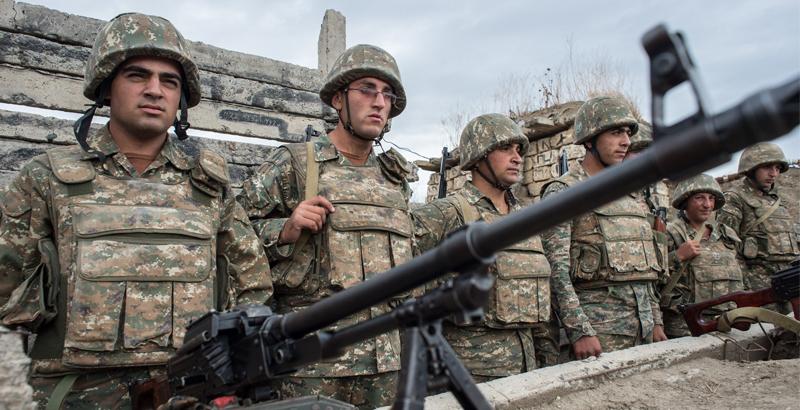 Azerbaijani Troops Attacks Military Vehicle in Nagorno-Karabakh Region (Video)