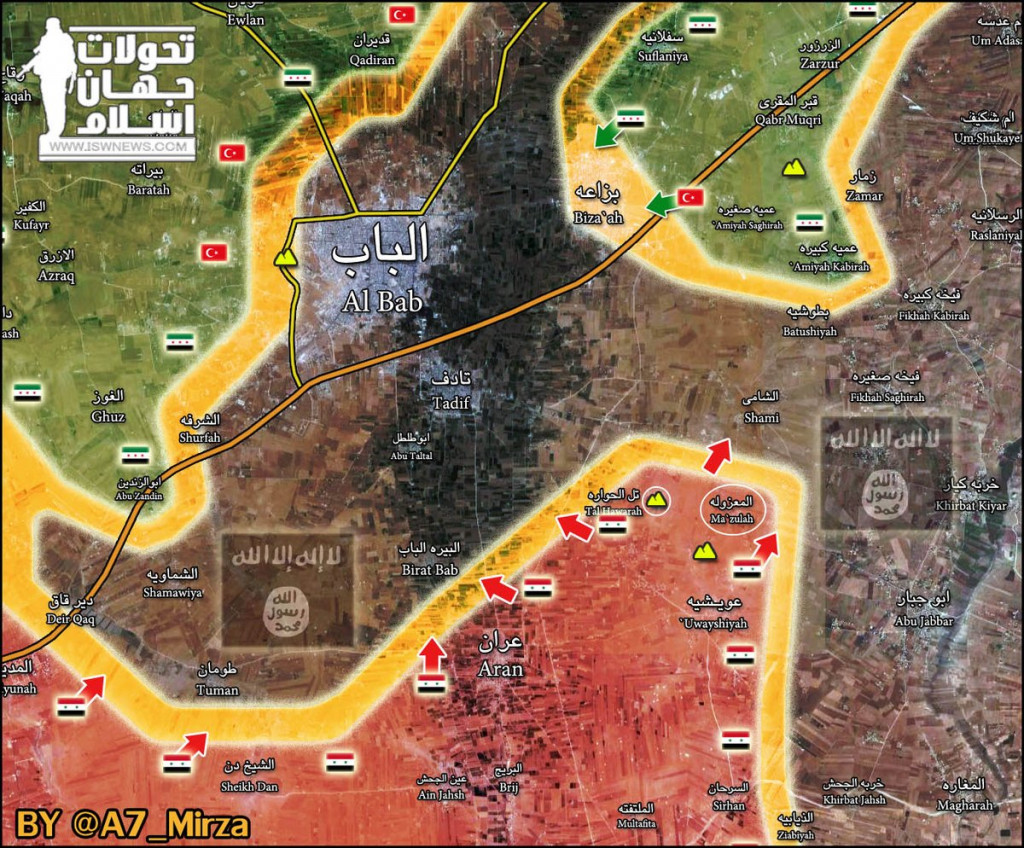 Syrian Army's Tiger Forces Physically Cut Off ISIS Supply Line To Al-Bab