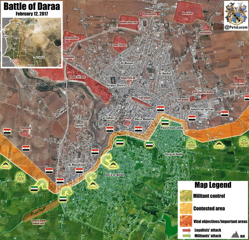 Syrian Army Repels Al-Qaeda-Led Attack On Daraa, Up To 40 Militants Killed