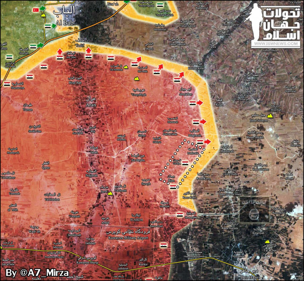 Syrian Army Retakes 3 More Villages From ISIS Terrorists Near Kuweires Airbase