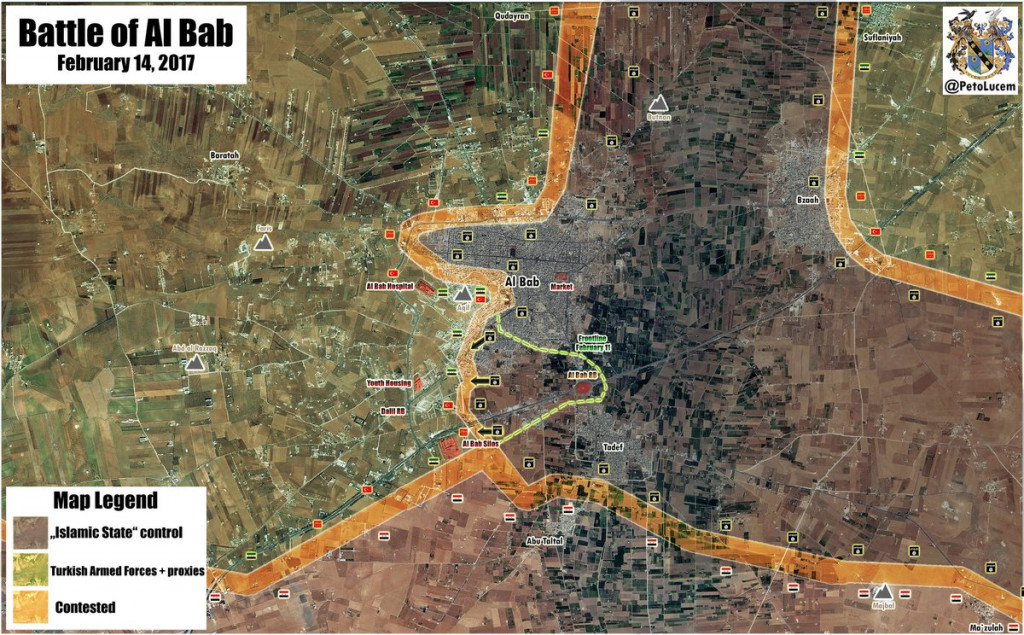 Pro-Turkish Militants And Turkish Army Losing Ground In Al-Bab (Map Update)