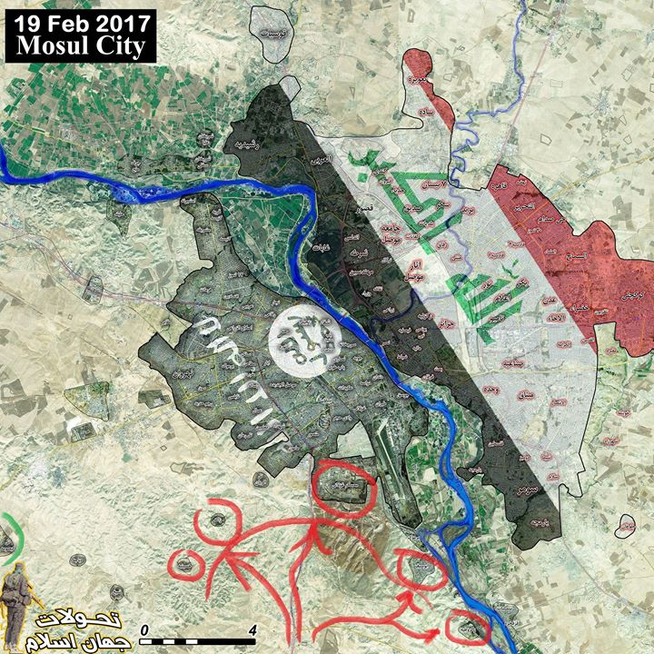 Iraqi Forces Storming Al Ghazlani Military Base South Of Mosul