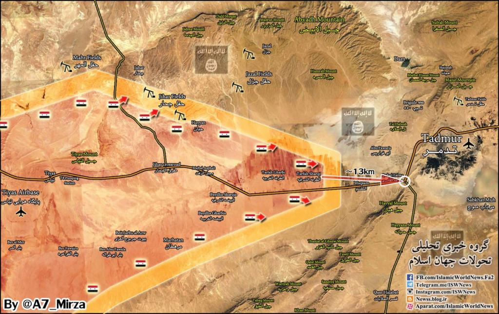 Syrian Army's Progress Towards Palmyra (Map Update)