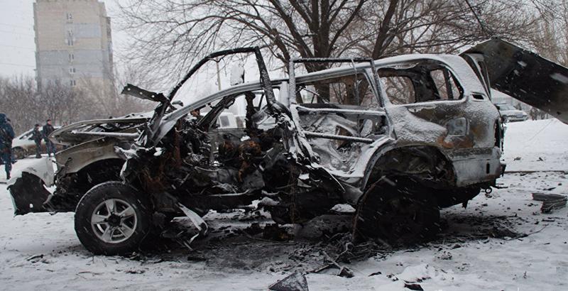 Car Blast in Lugansk: Senior Milita Commander Killed (Video)