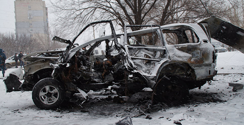 Car Blast in Lugansk: Senior Milita Commander Killed (Video)