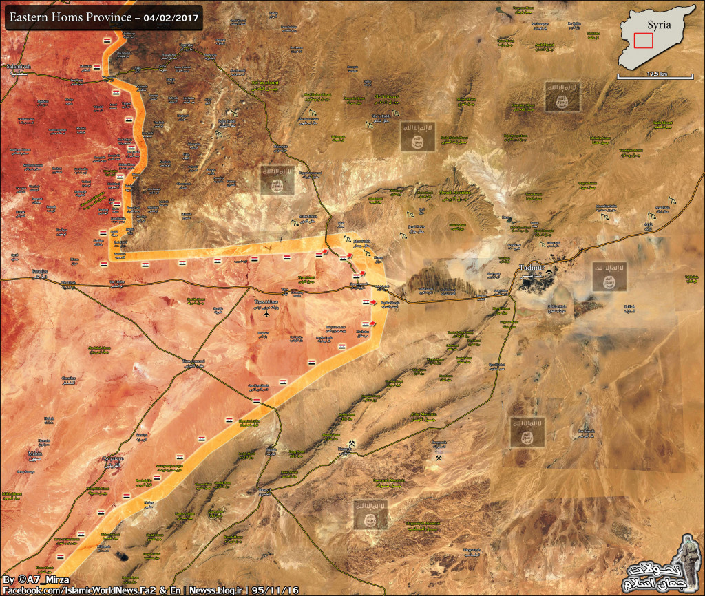 Fierce Clashes Ongoing Between Government Forces and ISIS Terrorists West Of Palmyra