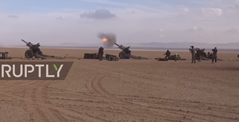 Squadron of Soviet Antique Cannons Spotted in Syria (Video)