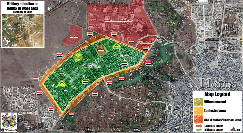 Military situation in Al Waer Area, Homs On February 17, 2017