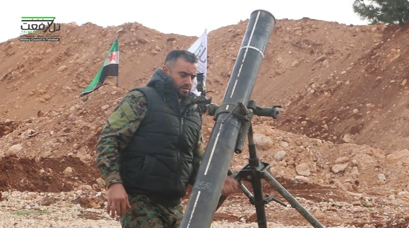 Turkish-Backed Militants Shell YPG-Controlled Town Of Tell Rifan With 120mm Mortar  (Video)