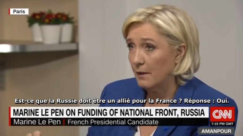 """Crimea was always Russian!"" France's Marine Le Pen schools CNN"