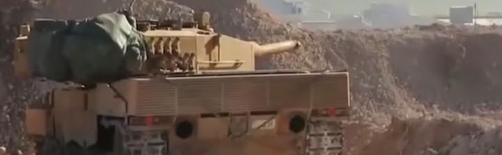 Turkish Leopard 2A4 tank at al-Bab